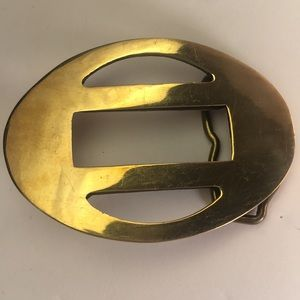 Aminco Vintage Mid Century Solid Brass Belt Buckle